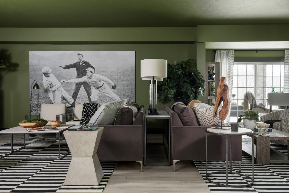 family living room in the HGTV smart home