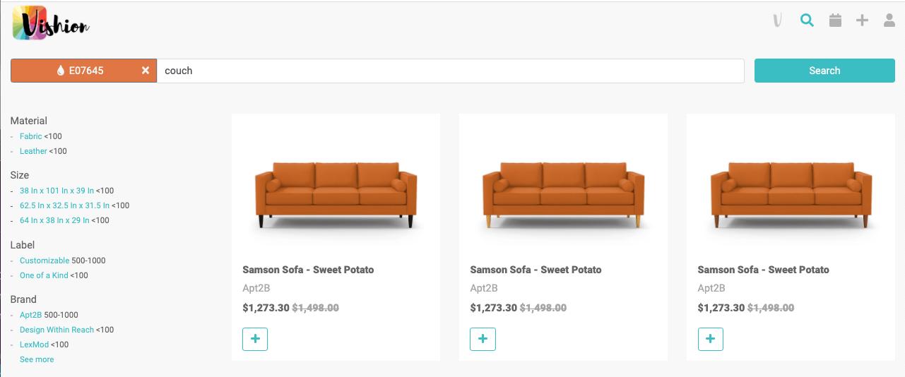 orange furniture and decor