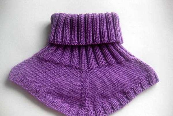 Манишка спицами для ребенка: схема вязание для малышей