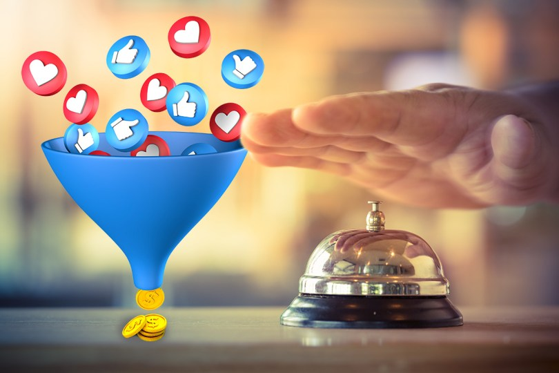 facebook funnel marketing per hotel