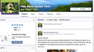 Rebranded Hale Akua Garden Farm social media and fans tripled in 2 months.