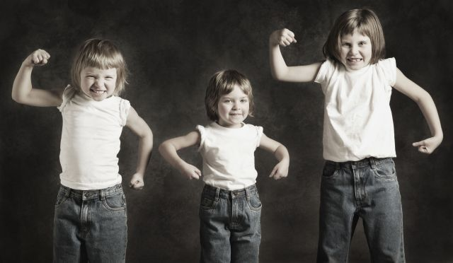 3 kids muscles