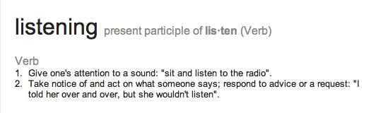 listen definition