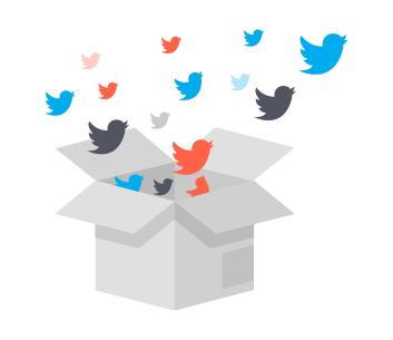 Box of social media icons