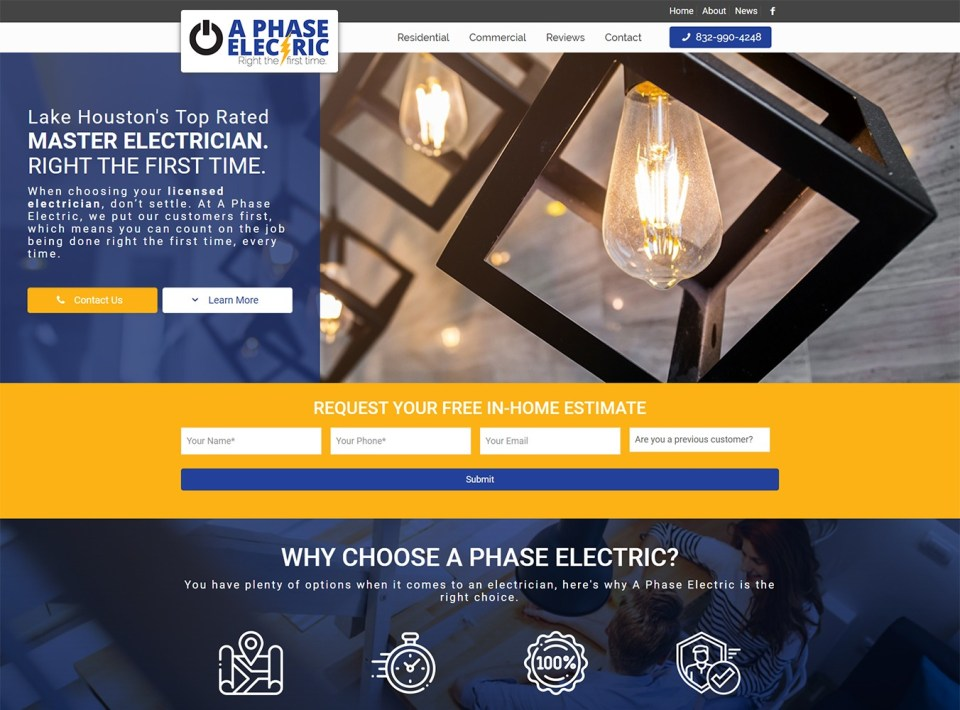 A Phase Electric Website Development by Visibly Connected