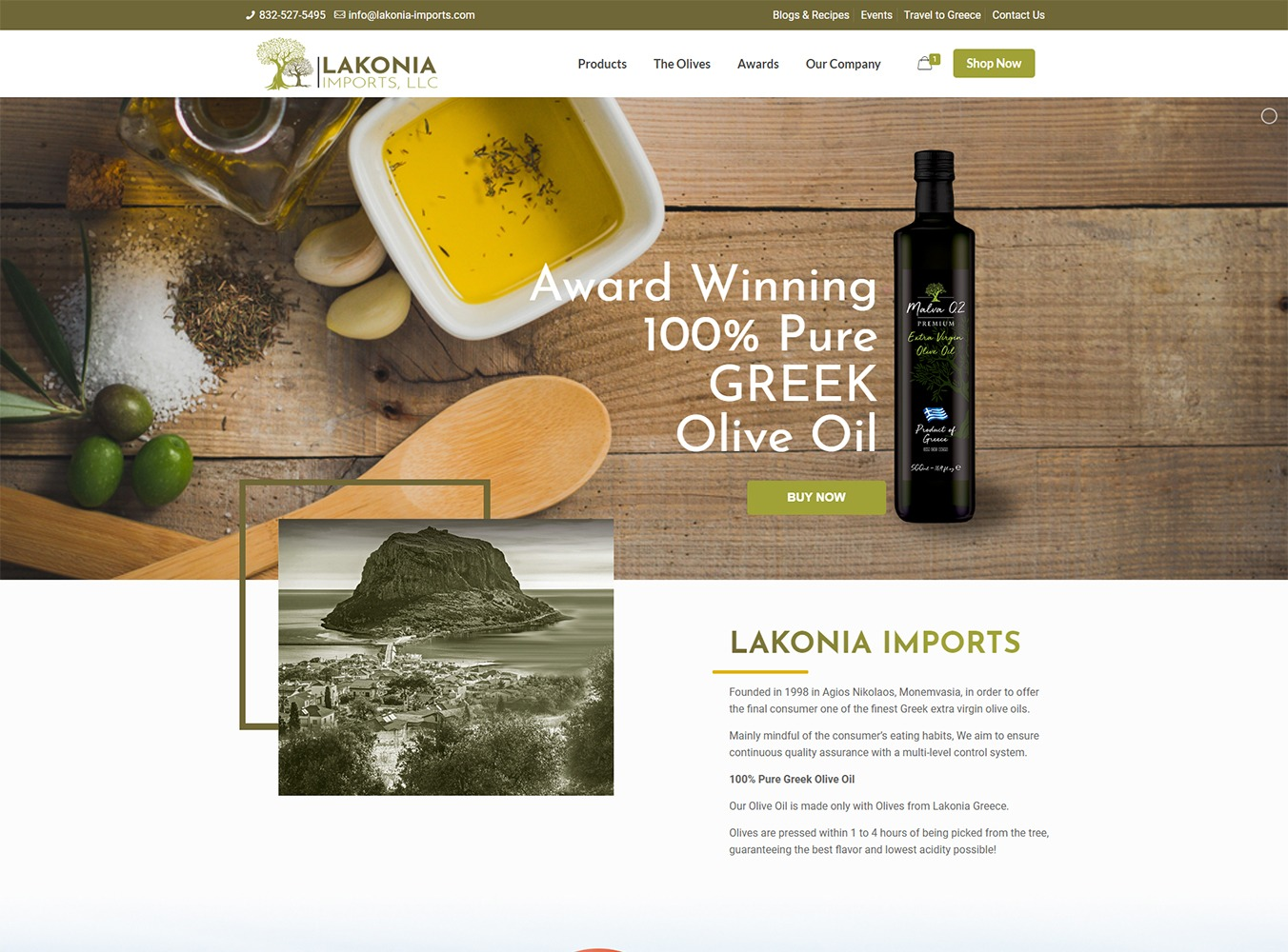 Lakonia Imports Website Design by Visibly Connected