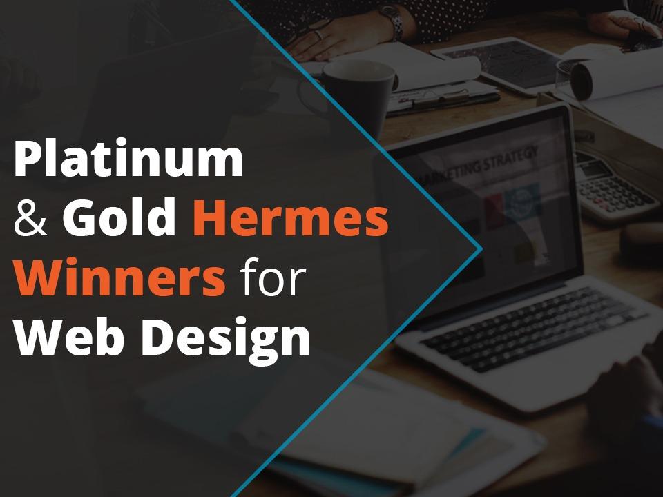 Platinum & Gold Hermes Winners for web design
