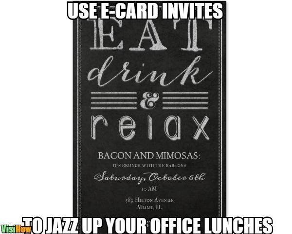I Need To Send Invitation To All Staff For Lunch Office