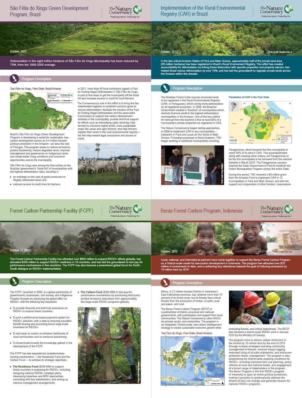 TNC Factsheets