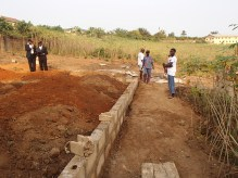 Foundation of the health clinic.