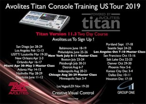 Avolites Announces New US Training Dates