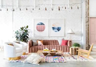 15 salas de estar com paredes de tijolos em estilo eclético decoist 01 Vision Art NEWS