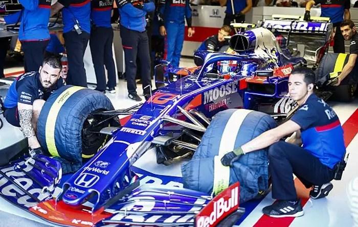 F1 toro rosso 2019 cobertores pneus Vision Art NEWS