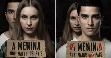 cartazes de a menina que matou os pais e o menino que matou meus pais Vision Art NEWS