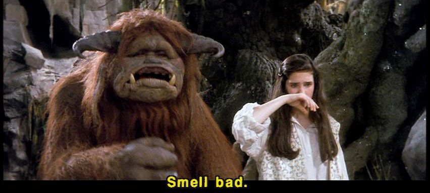 Screenshot from the Labyrinth w/ David Bowie