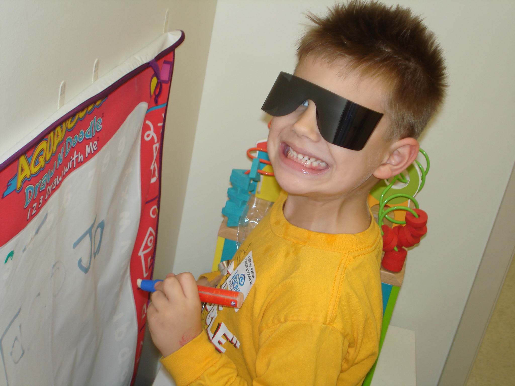 Jake Having Fun at Visionary Eyecare
