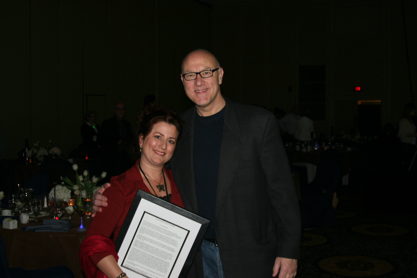 Dr Dawn Bearden and Executive VP of Lenscrafters, Frank Baynham