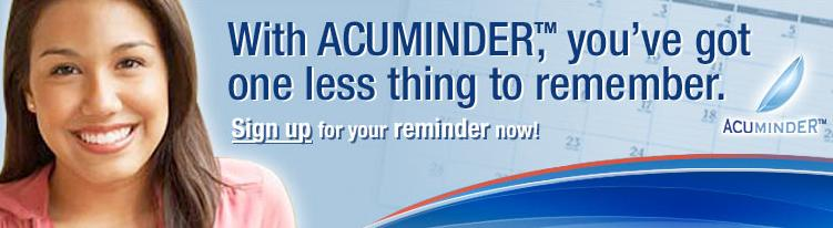 Visit www.Acuminder.com to Sign Up!
