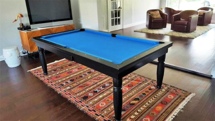 Convertible dining fusion pool table Constantine by Vision Billiards in black