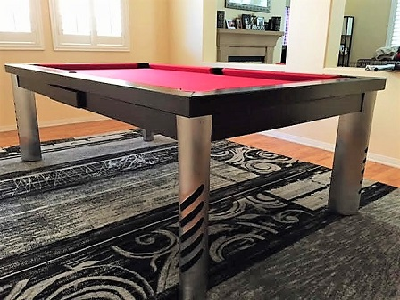 Convertible dining pool fusion table Mirage by Vision Billiards