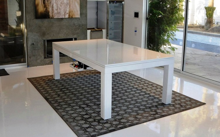 Convertible dining pool fusion table Vision white By Vision Billiards Inc