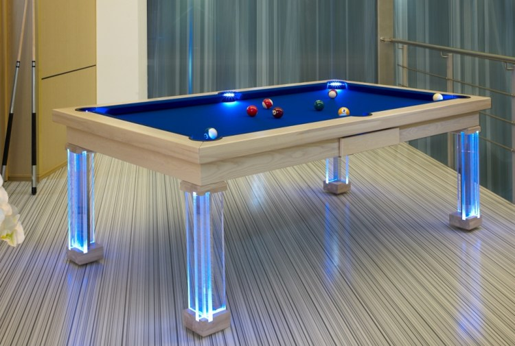 Monaco convertible dining pool fusion table by Vision Billiards
