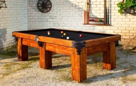 Rustic Log Pool Table Ranch by Vision Billiards