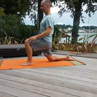 Lunge stretch - fix Flat Back Syndrome