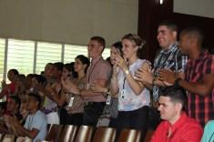 Iniciativas de los asistentes al acto de apertura oficial de la edición 29 del Fórum Nacional de Estudiantes de Ciencias Pedagógicas a la Universidad de Holguín. Sede José de la Luz y Caballero el 22 de junio. UHO FOTO/Torralbas..