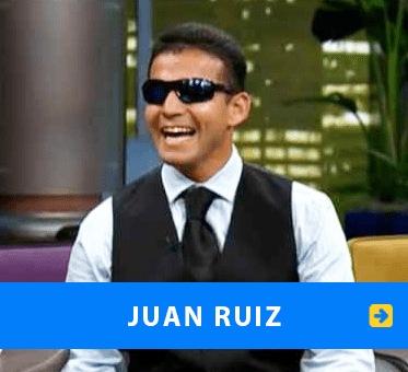 Photo: Juan Ruiz appearing on Don Franscisco Presenta. Link to his page.