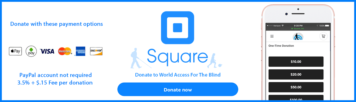 Pay by credit card or with Apple or Android Pay. Click here to donate via Square.