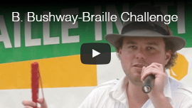 Video thumbnail: Brian Bushway speaks at the Braille Institute's Braille Challenge in 2010.