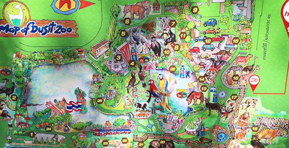 IMage: Map of the Dusit Zoo in Bangkok, Thailand