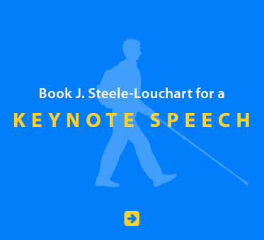 Book J. Steele-Louchart for a Keynote Speech.