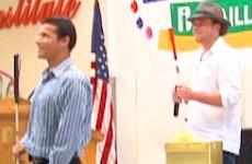 Photo of Juan Ruiz and Brian Bushway onstage.