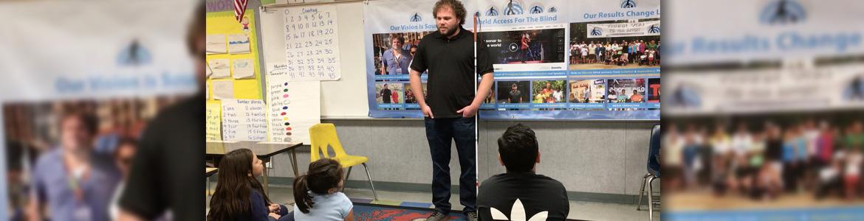 Senior Visioneer Brian Bushway presents an in-class workshop on FlashSonar echolocation.