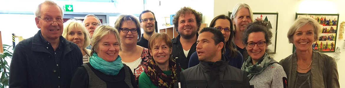 Senior Visioneers Juan Ruiz and Brian Bushway with O&M Specialists in Germany in 2016.