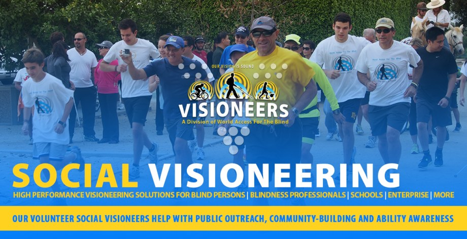 "Social Visioneering. Our volunteer Social Visioneers help with public outreach, community-building and ability-awareness. Image: Photo of participants in a past ""Walk, Run, Ride"" fundraising event."