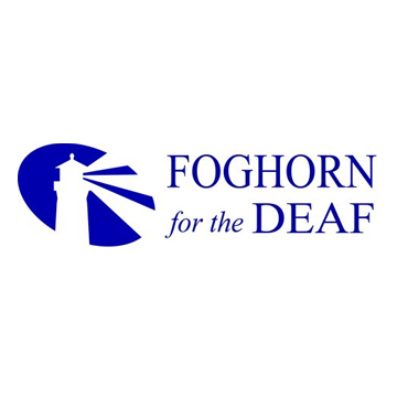 Foghorn For The Deaf parody logo as described in previous text.