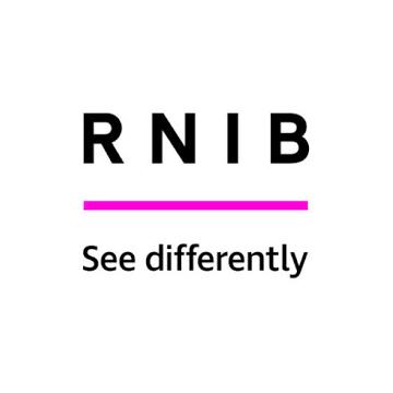 RNIB logo - panel 3 as described in previous text.