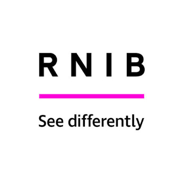 RNIB logo - panel 3 as described in previous text.
