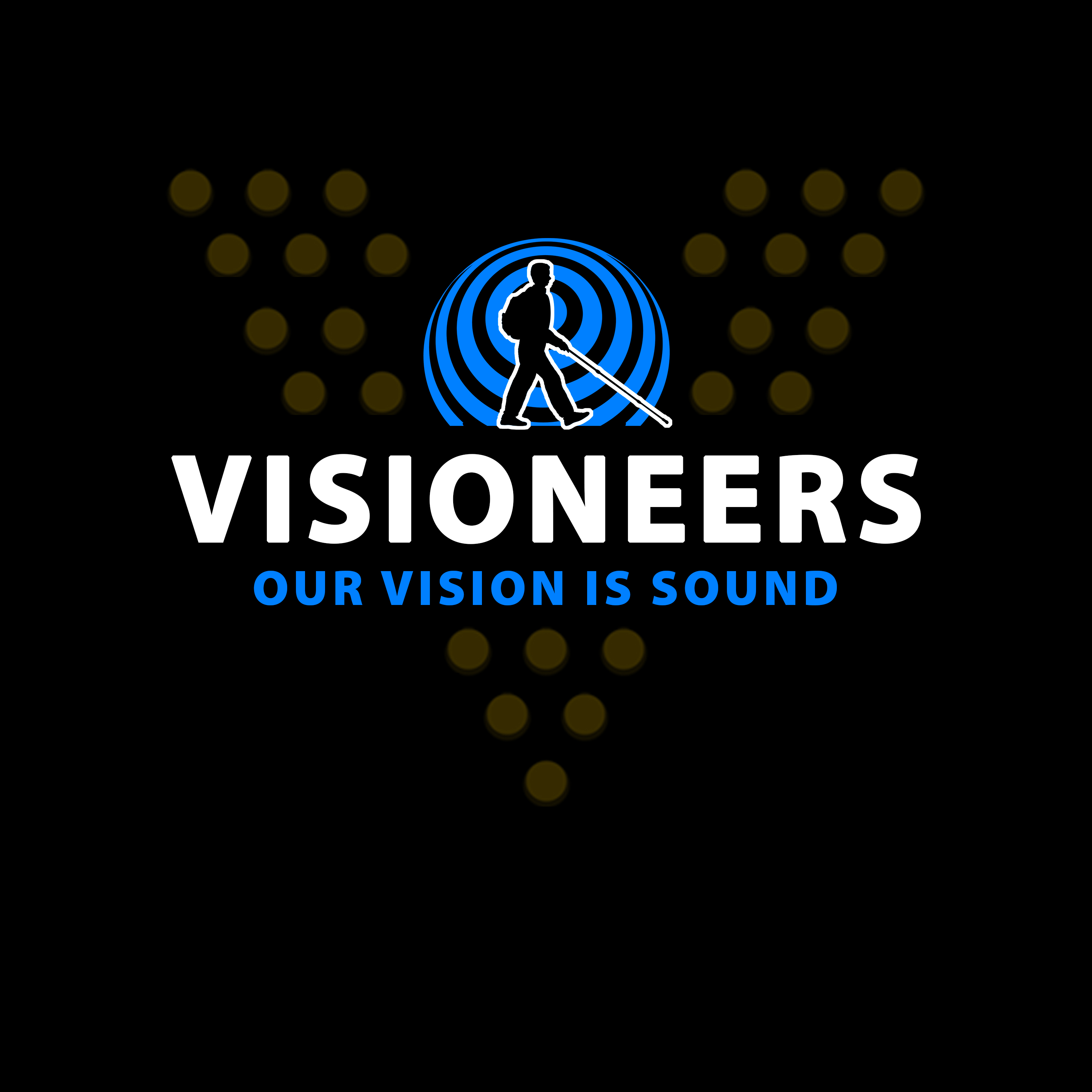 Visioneers 14. Same aS PREVIOUS PANEL BUT WITH YELLOW V DOTS.