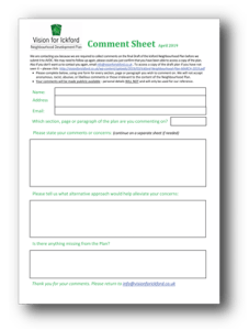 Ickford Neighbourhood Plan Comment Form