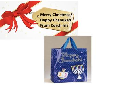 winter holiday greetings for Christmas, Chanukah