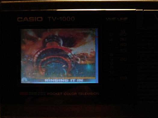 Casio TV 1000 Screen Shot photographed December 31, 2010