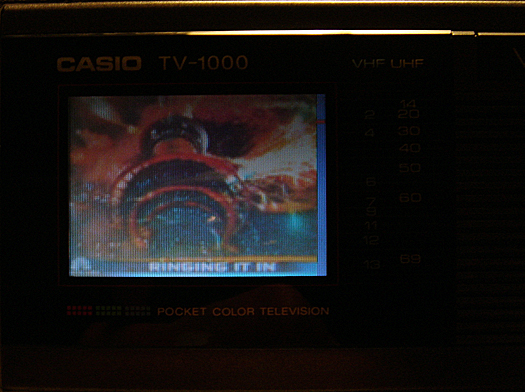 Casio TV 1000 Screen Shot photographed December 31, 2010
