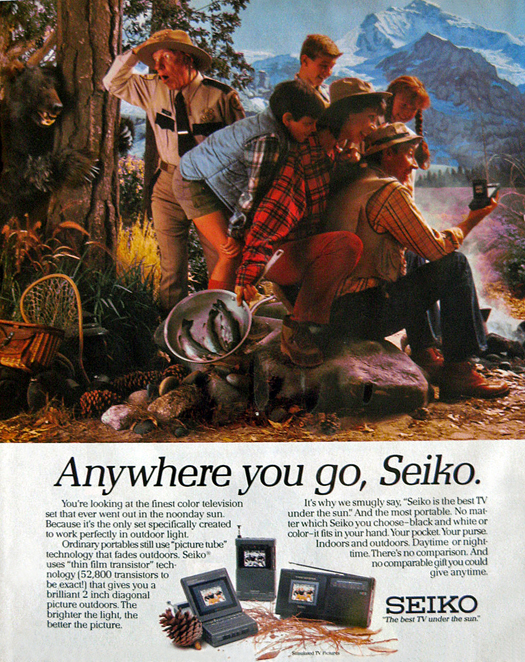 Seiko 1986 ad 525 WP