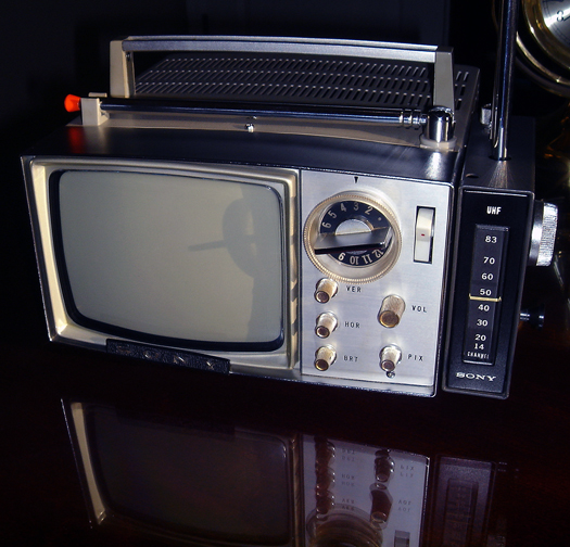 Sony Micro TV 5 303-W Gray photographed April 18, 2011