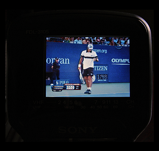 Sony FDL 3105 Screen Shot 2010 U.S. Open photographed September 11, 2011