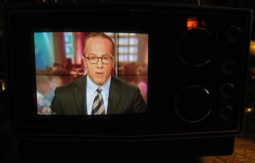 Sony KV 5000 Screen Shot photographed May 18, 2012